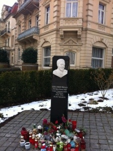 Elvis Presley monument in Bad Nauheim