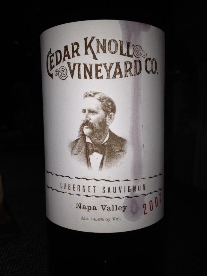 Cedar Knoll wine