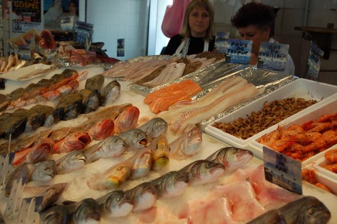 Fresh fish in Biarritz, France