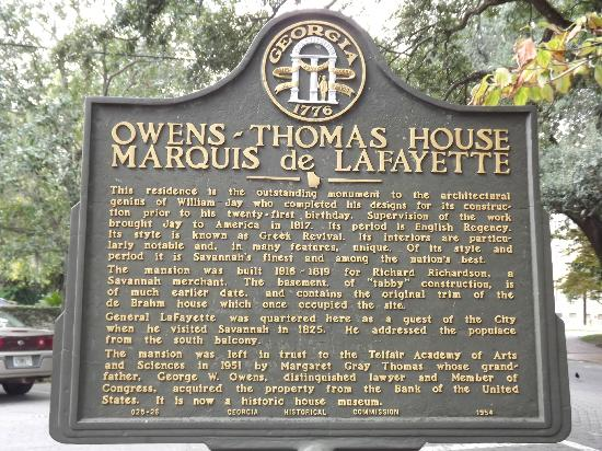 Owens-Thomas House in Savannah