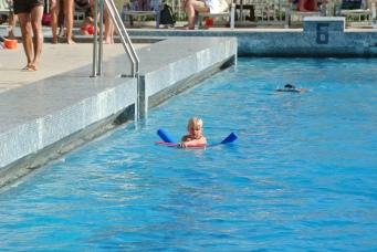 Emily swimming
