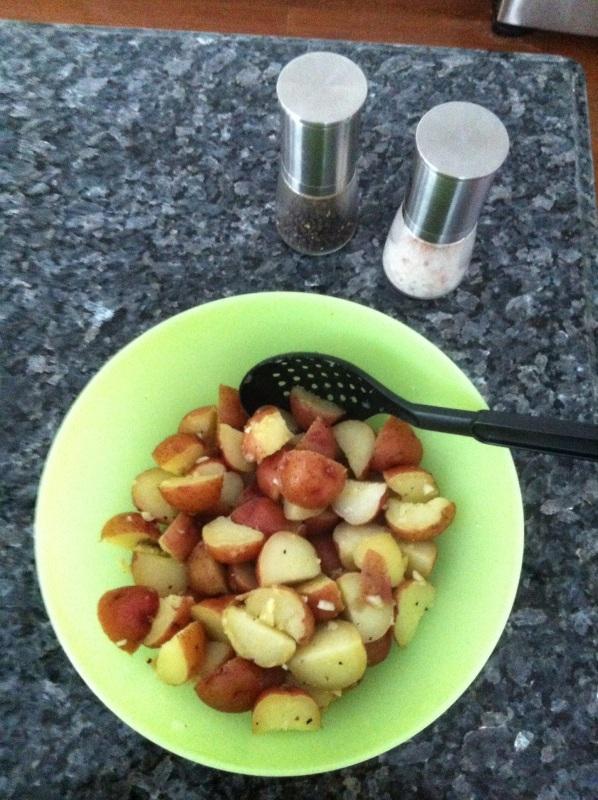dressed potatoes