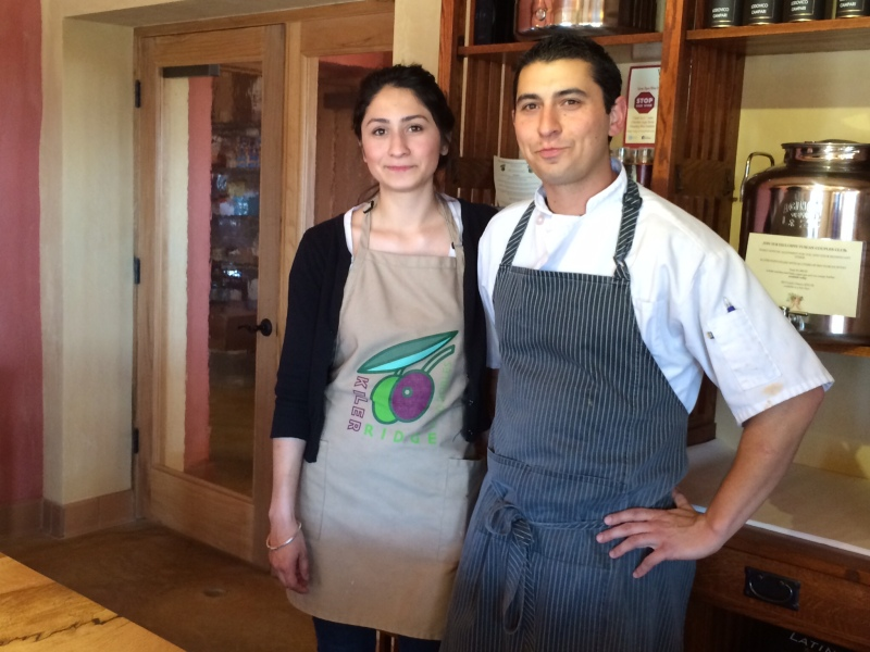 Chef Alex Martin (R) and his sister