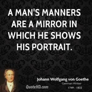 Goethe on Manners